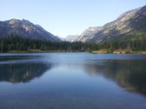Alpine Lake. Gold Creek Lake in Washington Stock Photography