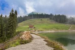 Alpine lake at Hohe Salve, Tirol Royalty Free Stock Image