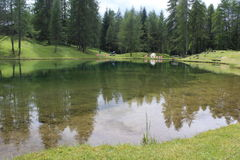 An alpine lake Stock Images