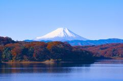 Alpine lake, Japan Stock Image