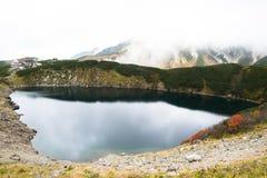 Alpine lake in Japanese Alps, Japan Stock Image