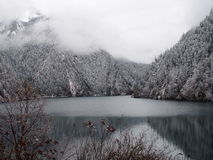 Alpine Lake in Jiuzhaigou. A very beautiful alpine lake in Jiuzhaigou (translated as Valley of Nine Villages Stock Image