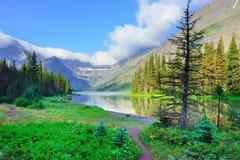 Alpine lake Josephine on the Grinnell Glacier trail in Glacier National Park Stock Photo