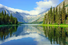 Alpine lake Josephine on the Grinnell Glacier trail in Glacier National Park Stock Photos