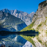 Alpine lake Koenigssee Stock Photos