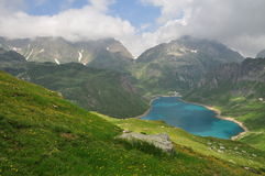 Alpine lake (lago) Vannino, Formazza valley, Italy Stock Image