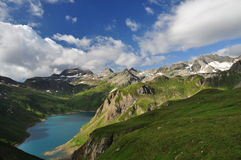 Alpine lake (lago) Vannino, Formazza valley, Italy Stock Photos