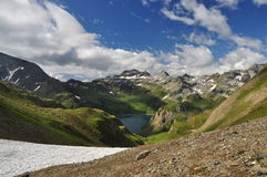 Alpine lake (lago) Vannino, Formazza valley, Italy Stock Photo