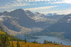 Alpine Lake in Late Afternoon Light Royalty Free Stock Photography