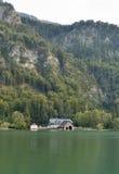 Alpine lake Mondsee autumn landscape, Austria Stock Photography
