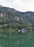 Alpine lake Mondsee autumn landscape, Austria Royalty Free Stock Images