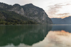 Alpine lake Mondsee sunset landscape Royalty Free Stock Photos