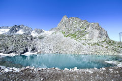 Alpine lake Monticello in Lombardy, Italy Stock Photography