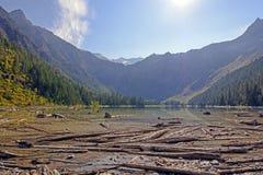An Alpine Lake in Morning Light Stock Image