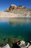 Alpine Lake And Mount Humphreys. A blue alpine lake with Mount Humphreys in the background Royalty Free Stock Photo