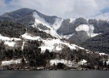 Alpine lake and mountains Royalty Free Stock Photos