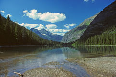 Alpine Lake on the mountains Royalty Free Stock Photo