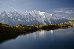 Alpine lake and mountains Royalty Free Stock Image