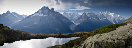 Alpine lake and mountains Royalty Free Stock Photo