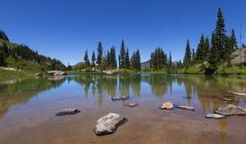 Alpine Lake on Naches Peak Loop Trail in Mt Rainier NP Royalty Free Stock Photography