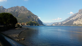 Alpine lake in northern Italy Royalty Free Stock Photo
