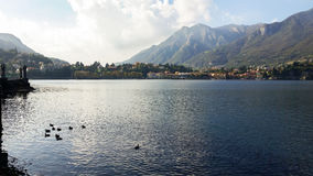 Alpine lake in northern Italy Royalty Free Stock Photos