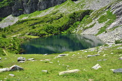 Alpine lake. Ossola valley. Italy Royalty Free Stock Photography