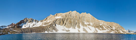 Alpine Lake Panorama Royalty Free Stock Images