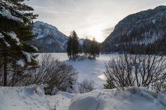 The lake of Predil in Italy