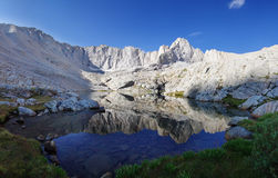Alpine Lake Reflection royalty free stock photography