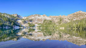 Alpine Lake Reflection, Sawtooth National Recreation Area, ID Royalty Free Stock Photo
