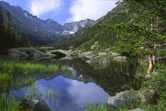 Alpine lake reflections Royalty Free Stock Images