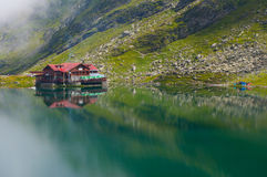Alpine Lake Resort. Balea Lake caban situated on the top of the transfagarasan road Stock Photography