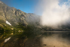 Alpine lake in Restonica Valley Stock Photography