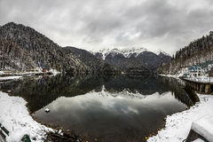 Free Alpine Lake Ritsa In Winter , Abkhazia Stock Image - 34429321