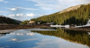 Alpine Lake - Rocky Mountains Stock Image