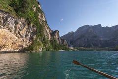 On alpine lake Stock Photos