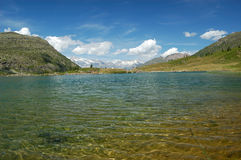 Alpine lake scenery Royalty Free Stock Images