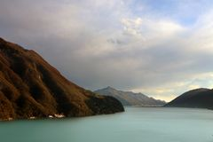 Alpine lake scenery Royalty Free Stock Image