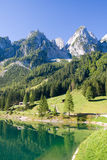 Alpine lake scenery Stock Photo