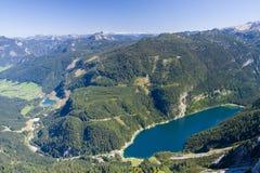 Alpine lake scenery royalty free stock images