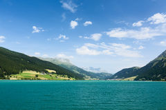 Alpine Lake in South Tyrol, Italy Royalty Free Stock Image