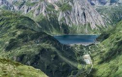 Alpine lake in summer season Royalty Free Stock Image