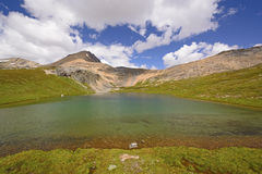 Alpine lake on a Sunny Day Royalty Free Stock Images