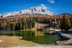 Alpine lake in sunny morning Stock Photography