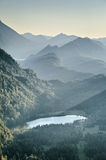 Alpine Lake by Sunset - Schwansee Stock Images