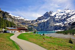 Alpine lake in Switzerland Royalty Free Stock Images