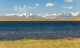 Alpine lake in TIen Shan mountains Royalty Free Stock Photo