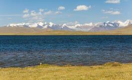 Alpine lake in TIen Shan mountains Royalty Free Stock Photo