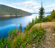 Alpine Lake Vidra summer  view Royalty Free Stock Photos